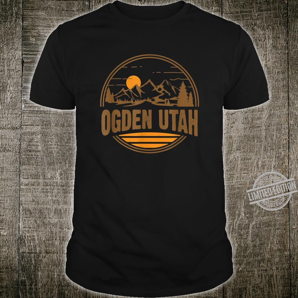 Vintage Ogden, Utah Mountain Hiking Souvenir Print Shirt