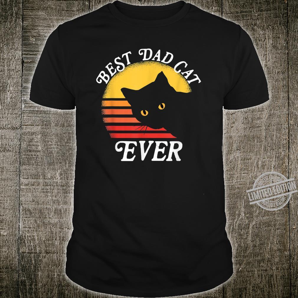 Vintage Retro Best Cat Dad Ever 80er Shirt