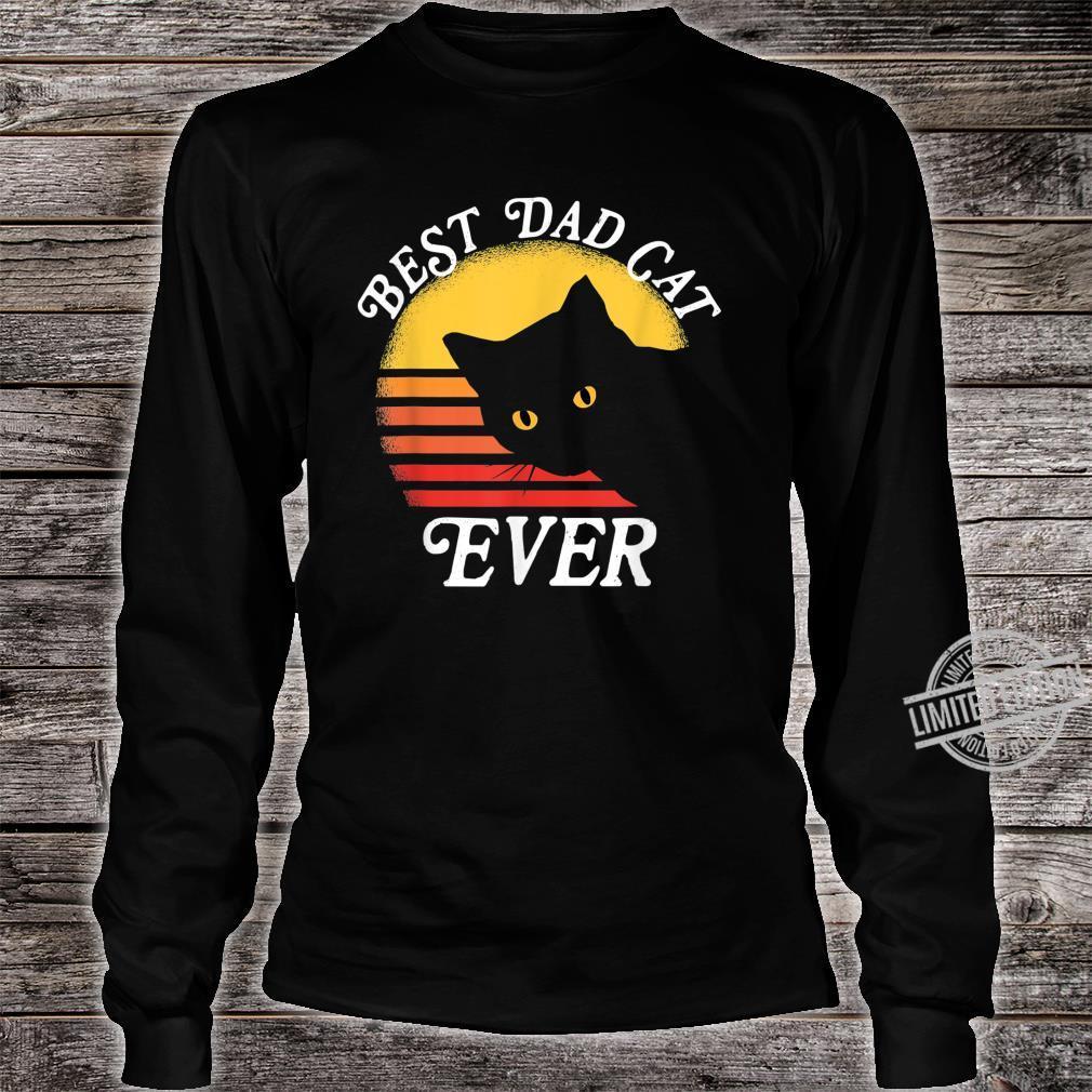 Vintage Retro Best Cat Dad Ever 80er Shirt long sleeved