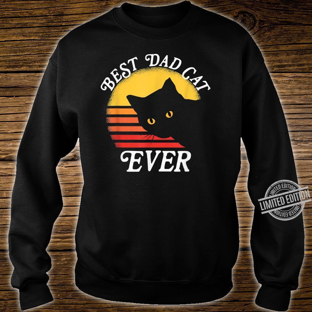 Vintage Retro Best Cat Dad Ever 80er Shirt sweater