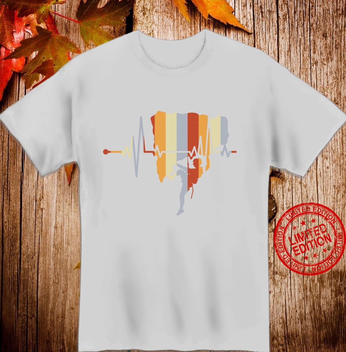 Vintage Retro Distressed Heartbeat Rock Climbing Cute Shirt