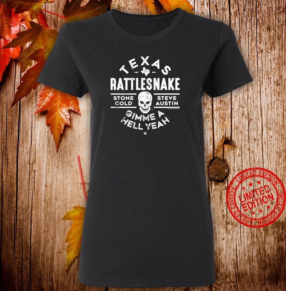 WWE Texas Rattlesnake Steve Austin Hell Yeah Shirt ladies tee
