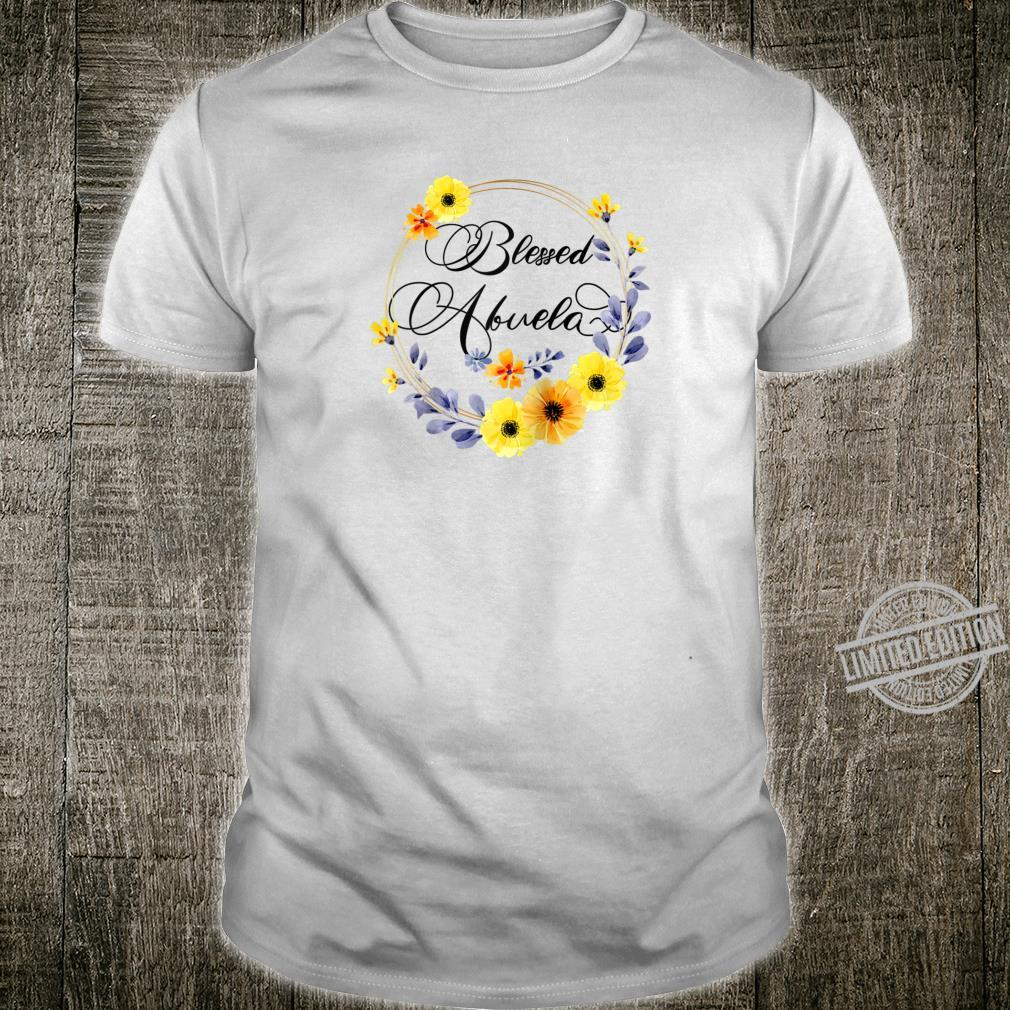 Womens Blessed Abuela Floral Grandma Mother's Day Shirt