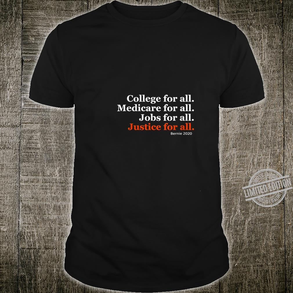Womens College For All Bernie Sanders Shirt