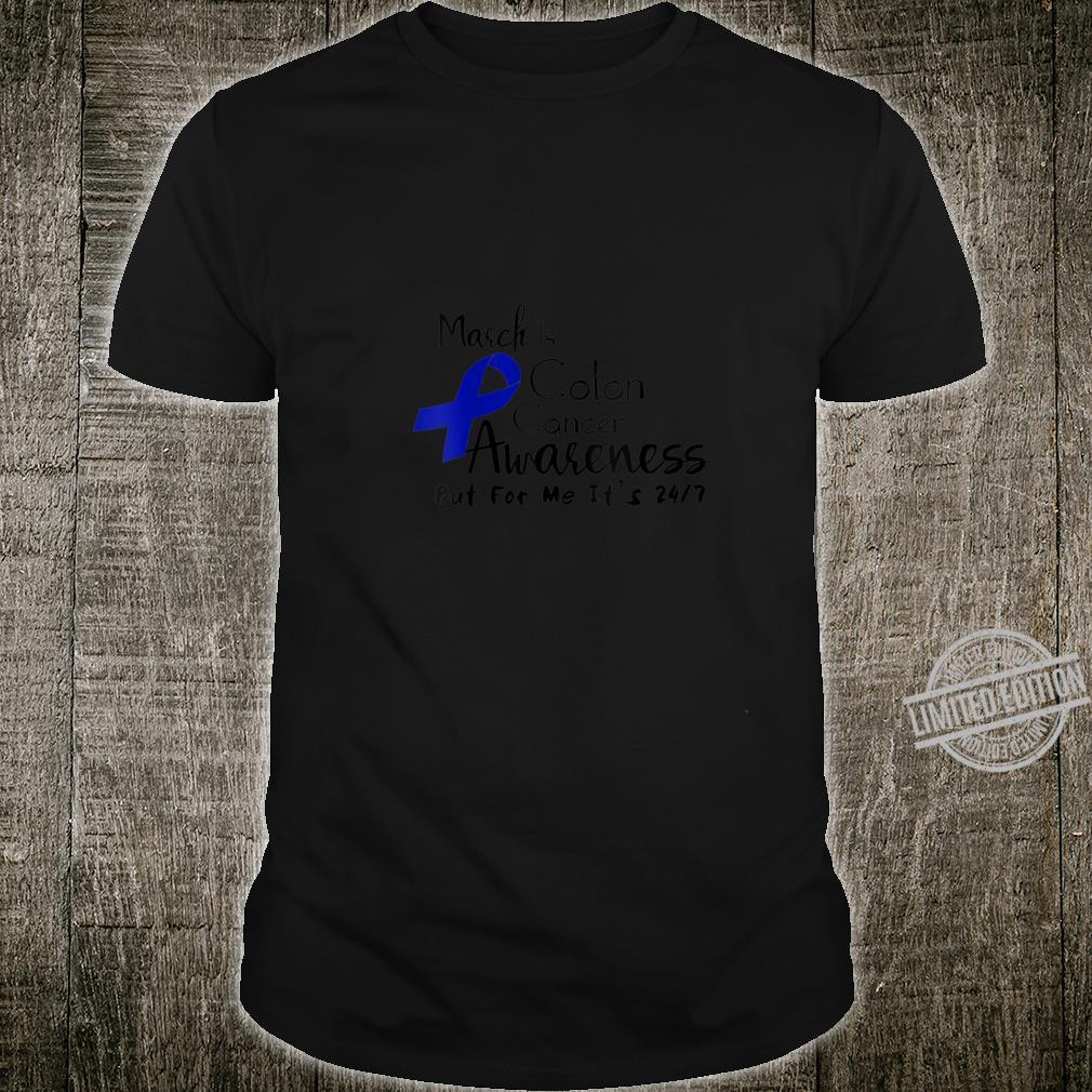 Womens Colon Cancer Awareness Survivor Shirt