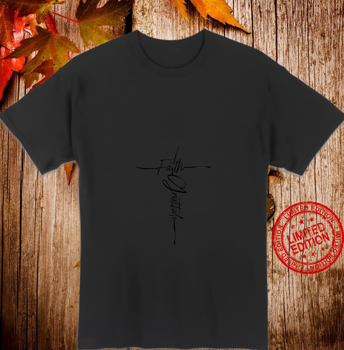 Womens Cross and Gratitude Christian and Shirt