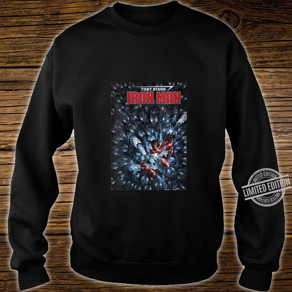 Womens Marvel Tony Stark Iron Man Comic Cover Shirt sweater