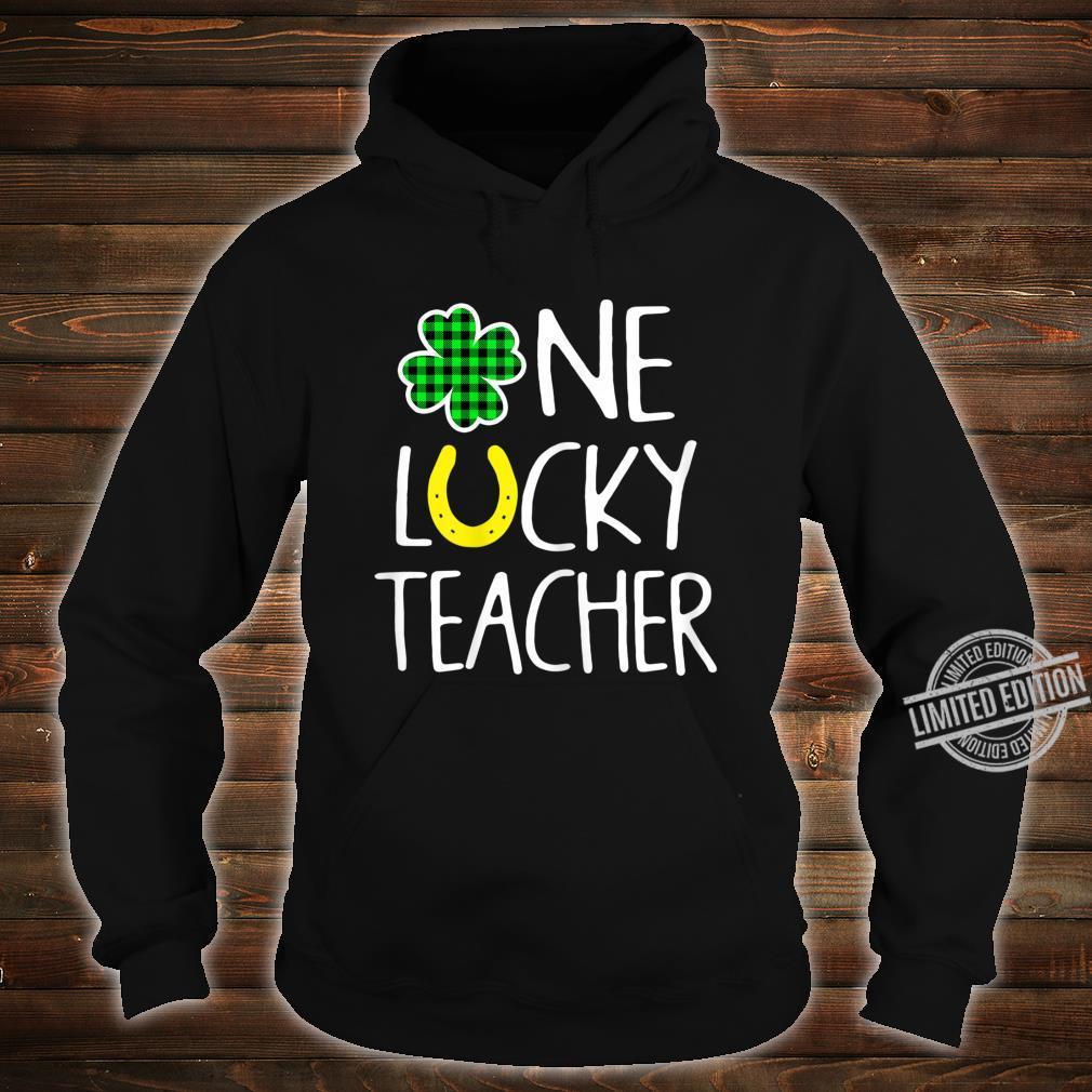 Womens One Lucky Teacher Shamrock Shirt St Patricks Day Shirt hoodie