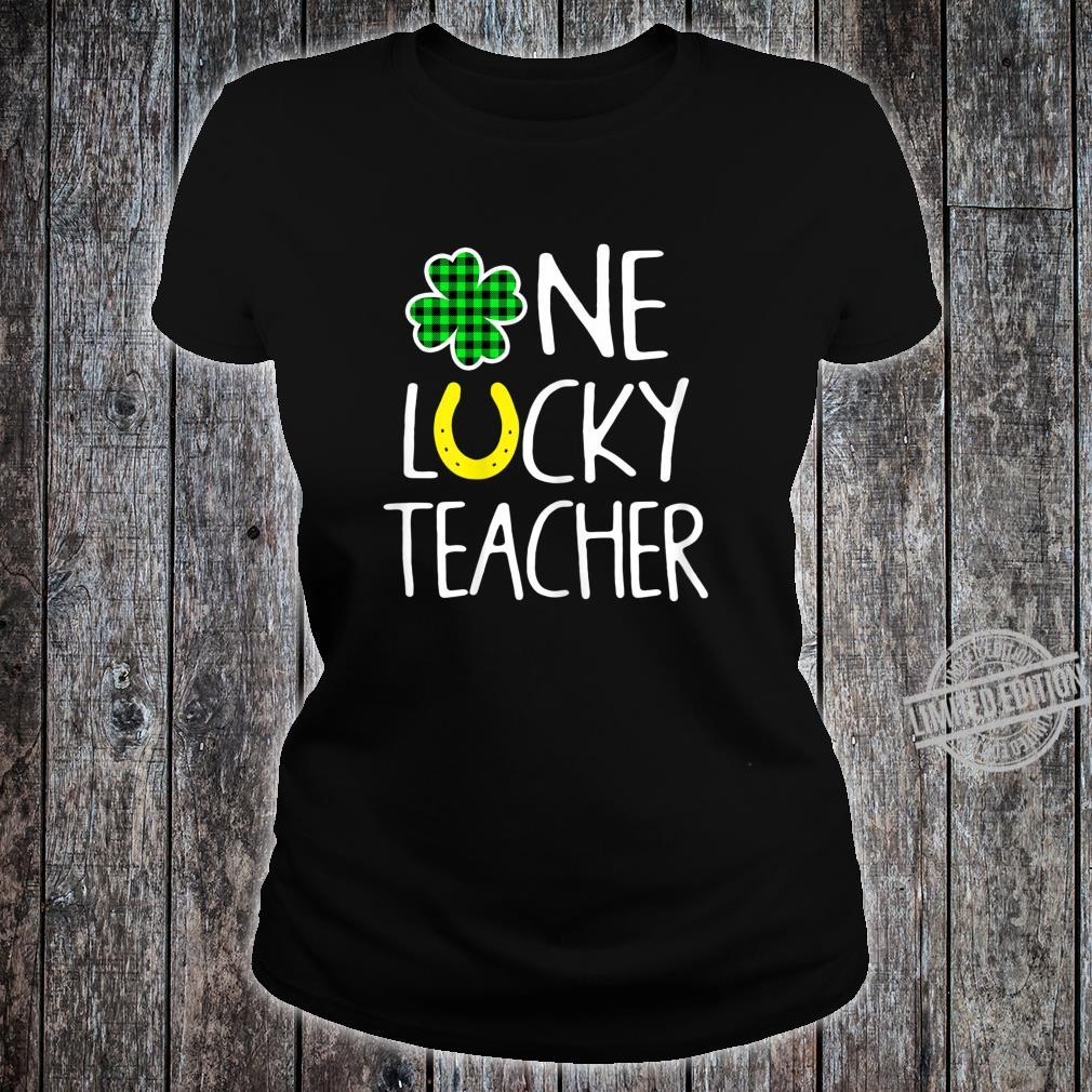 Womens One Lucky Teacher Shamrock Shirt St Patricks Day Shirt ladies tee