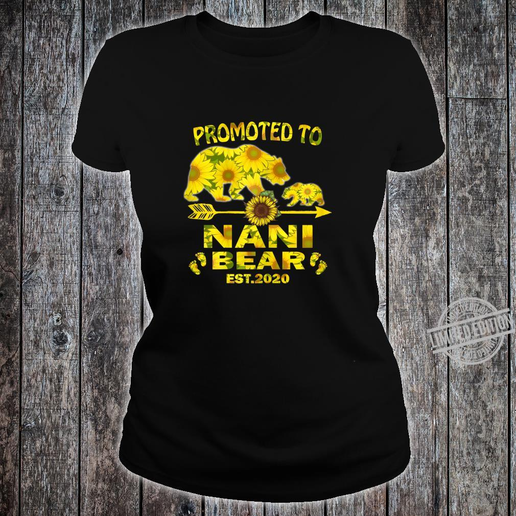 Womens Promoted To Nani Est 2020 Sunflower Mothers Day New Nani Shirt ladies tee