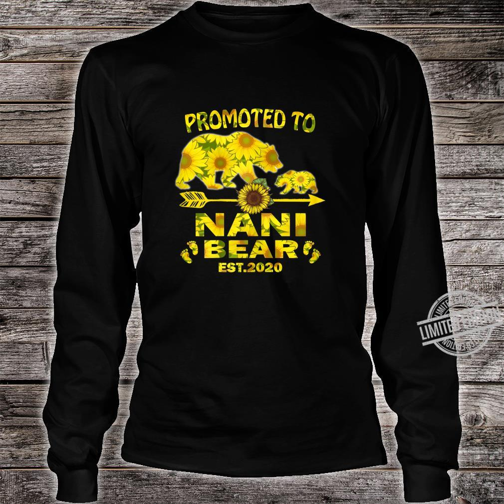 Womens Promoted To Nani Est 2020 Sunflower Mothers Day New Nani Shirt long sleeved