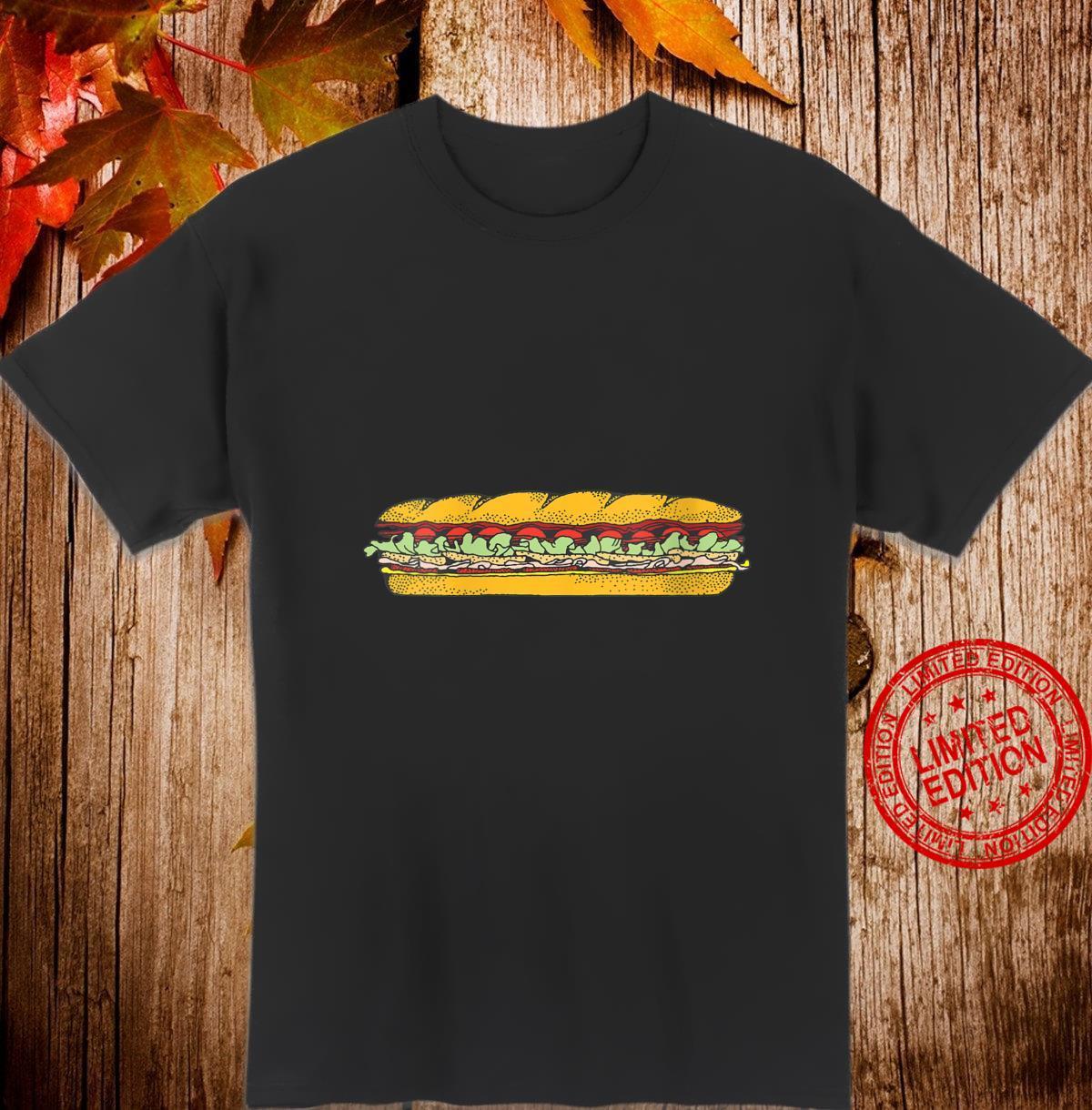 Womens Sub Sandwich Foodie Hero Fan Food Critic Shirt