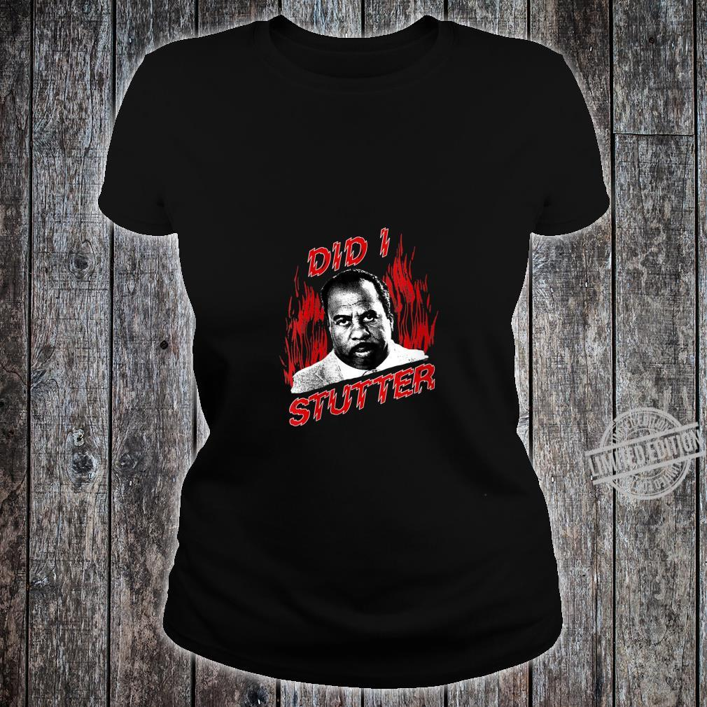 Womens The Office Did I Stutter Flames Shirt ladies tee