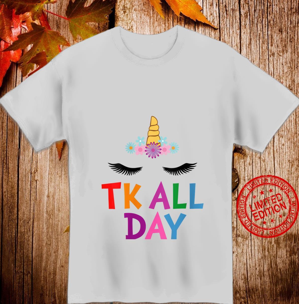 Womens Unicorn TK All Day Transitional Kindergarten Shirt