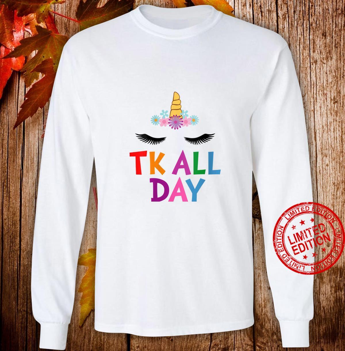 Womens Unicorn TK All Day Transitional Kindergarten Shirt long sleeved