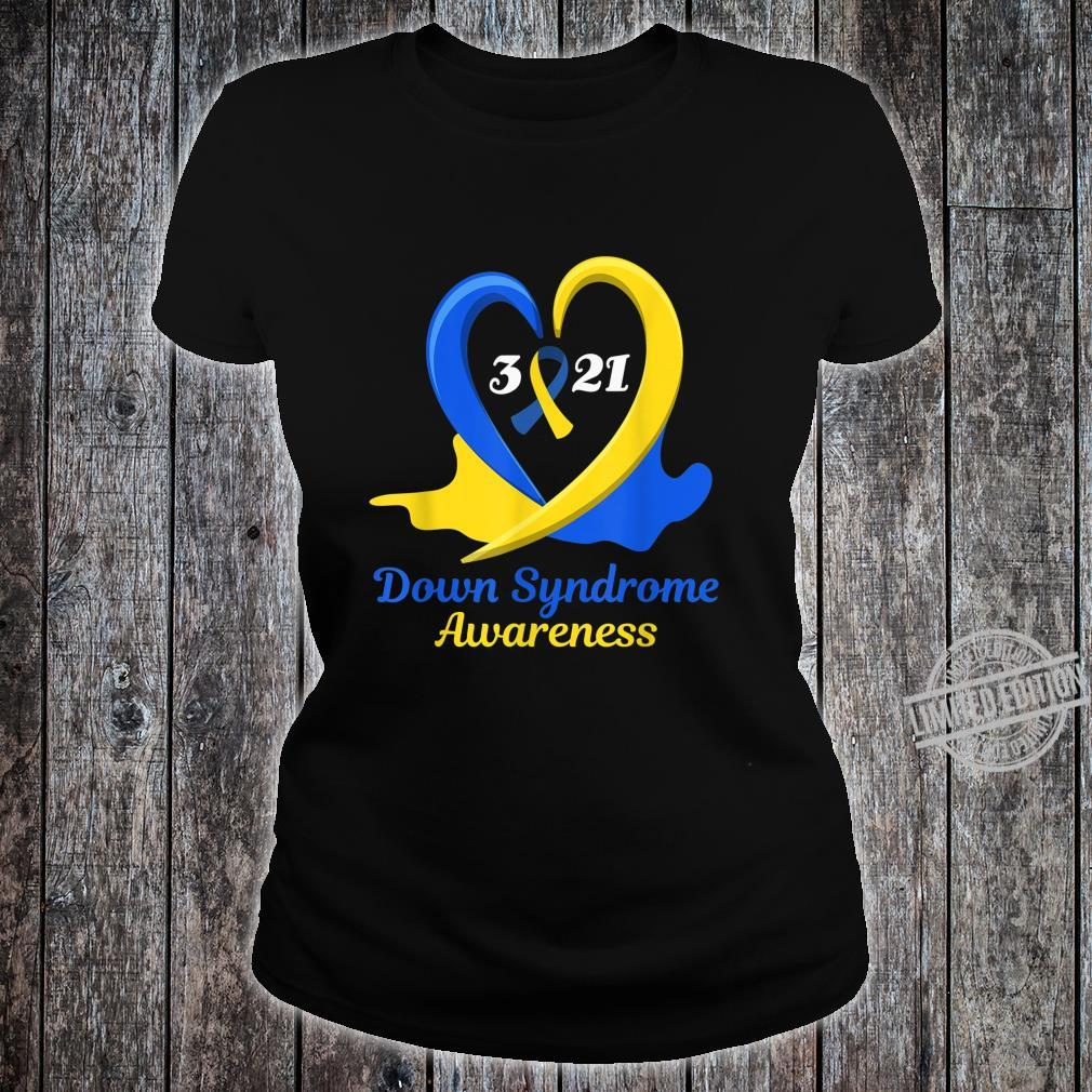 World Down Syndrome Day Awareness March 21 Support Shirt ladies tee