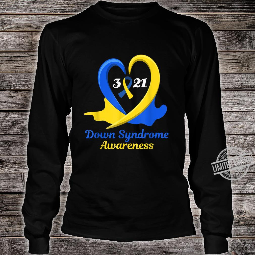 World Down Syndrome Day Awareness March 21 Support Shirt long sleeved