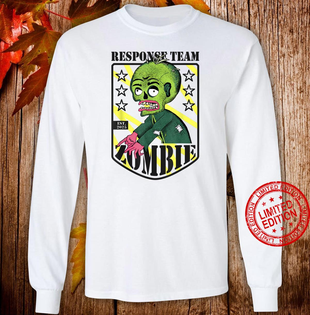Zombie Response Team Halloween Shirt long sleeved