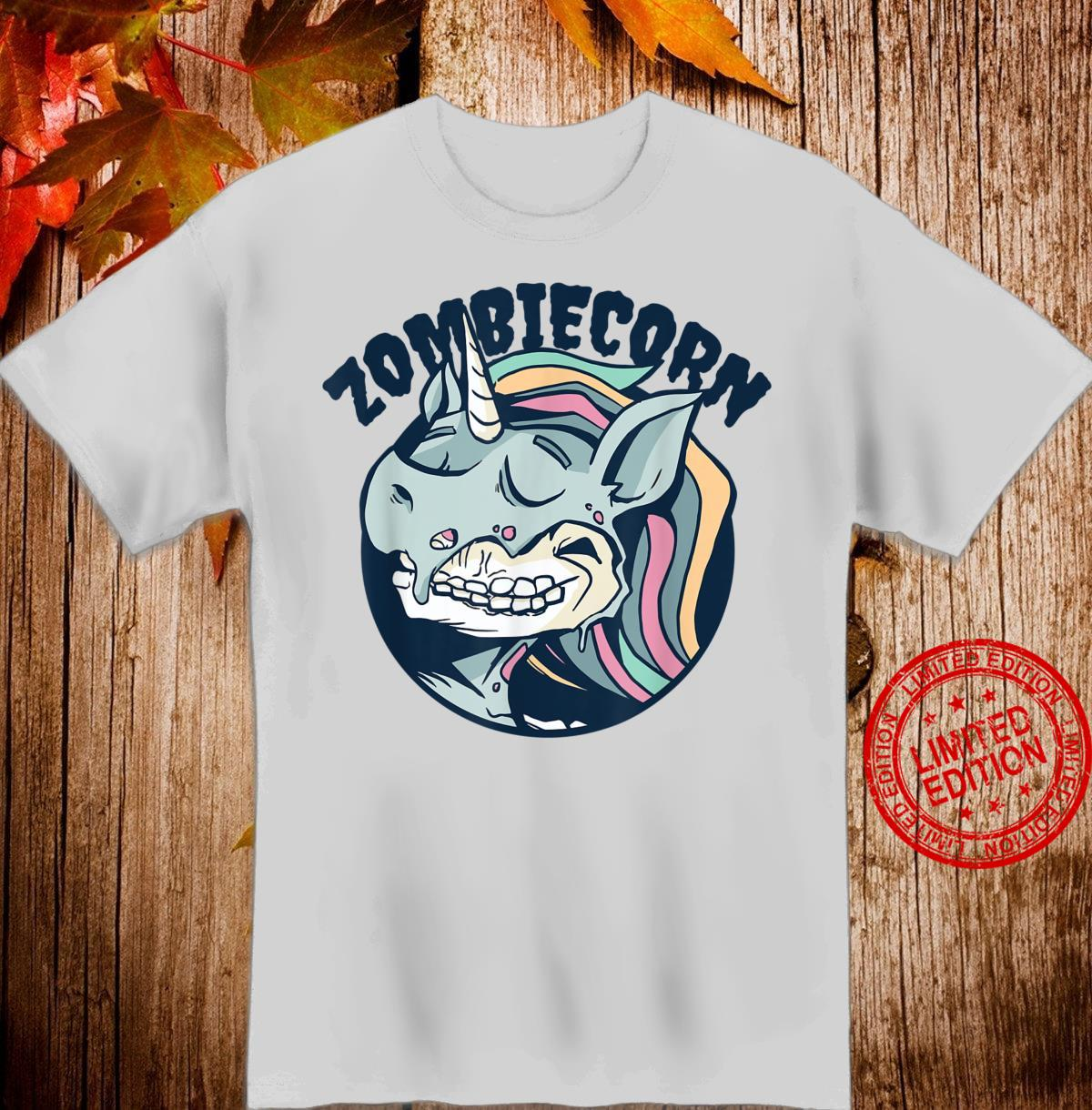 Zombiecorn Zombie Unicorn Halloween, Girls Shirt